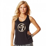 Zumba Blocked Bubble Black- gold