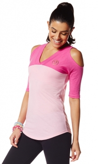 Zumba Outta the park Baseball Tee Pink