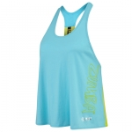 Zumba Chill the Funk Loose Top Aqua Blue