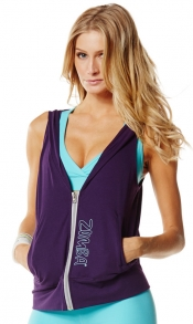 Zumba Gotta Jam Hooded Vest Purple