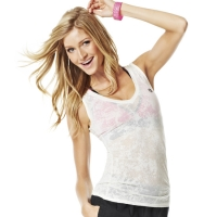 Zumba Hubble Bubble Burnout V neck Shirt OFF White