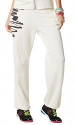 Zumba Gotta Jam Jersey Pants White Medium