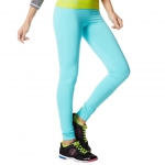 Zumba Love me Leggings Aqua Blue