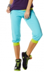 Zumba Maxin' and relaxin' Capri pants Aqua