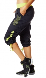 Zumba Soft and Stretch Cargos Pants Black